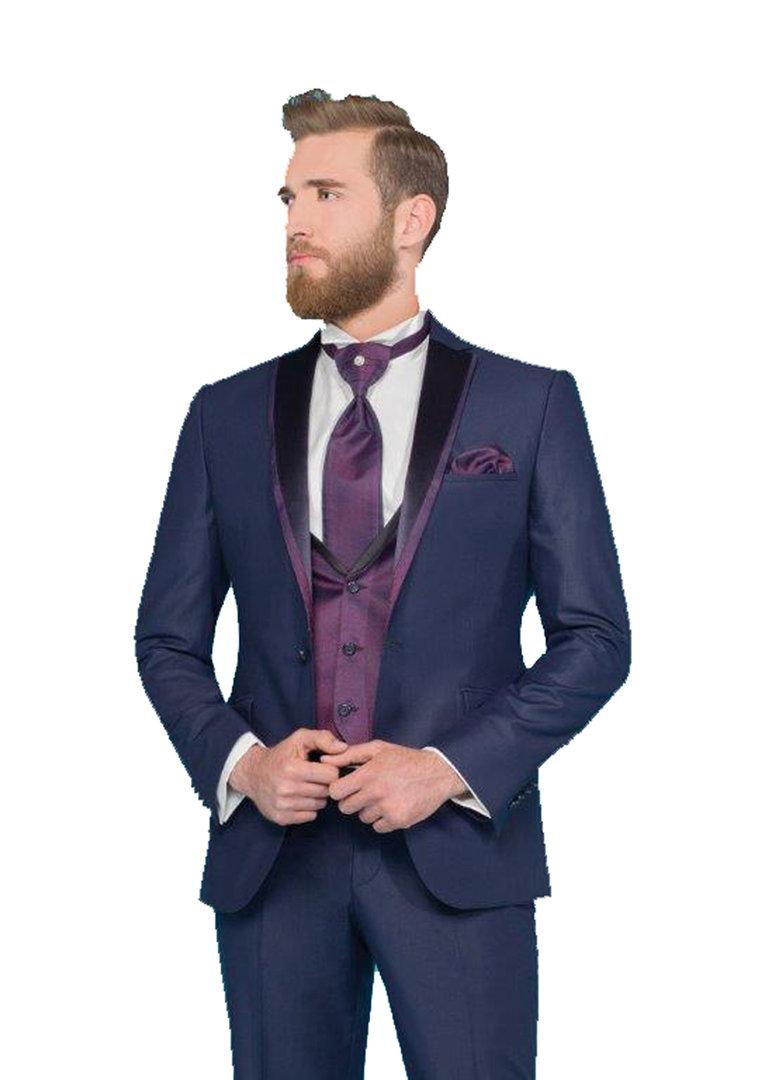 Herren hochzeitsanzug 5 teilig dunkelblau herrenausstatter for Hochzeitsanzug fliege