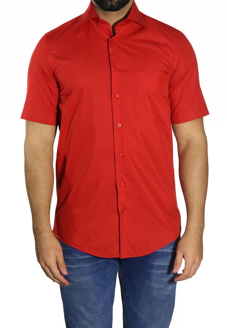 Muga Camisa manga corta para negocio o ocio - Hombre Camisas 36a934281ef