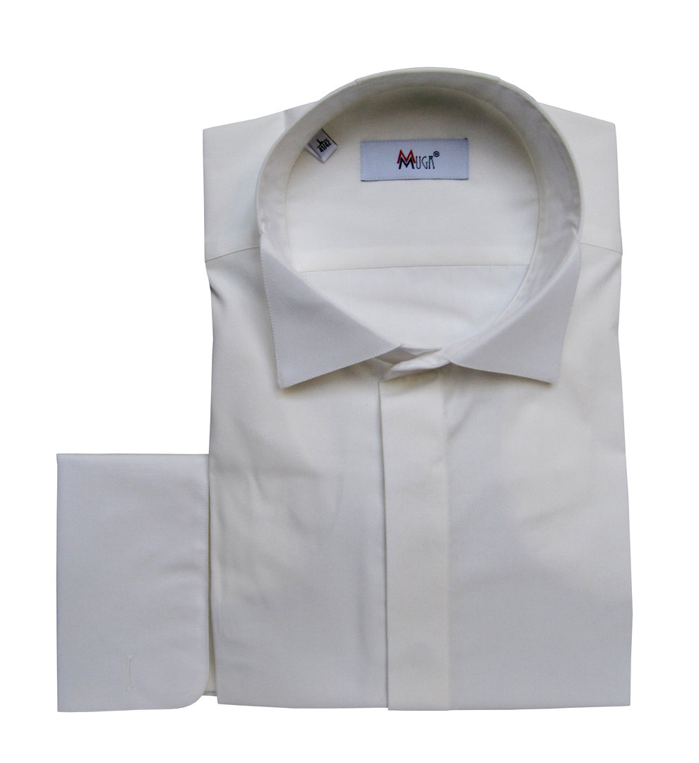 Muga mens french cuff dress shirt wedding clothing for Mens dress shirt french cuff