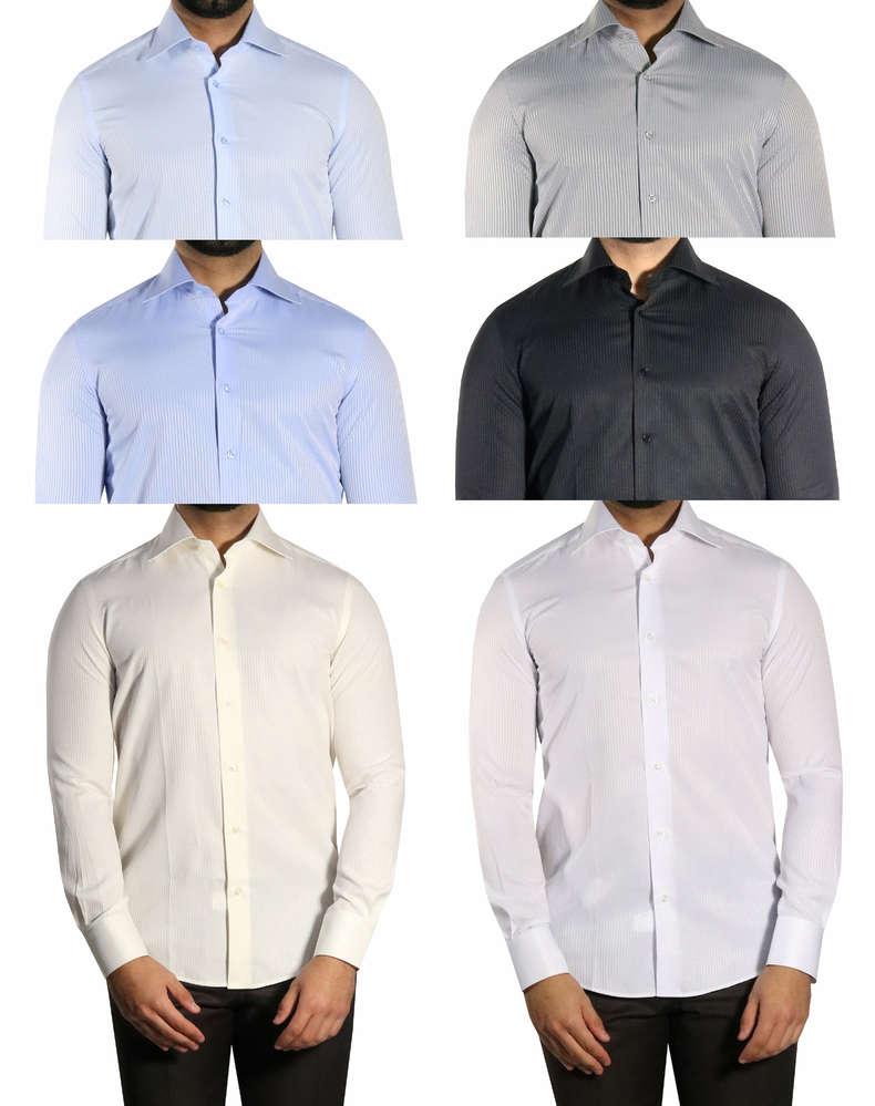 online store 583a0 a9590 Schattenstreifen Slim-fit Herren Hemd Muga - Fashion Köln