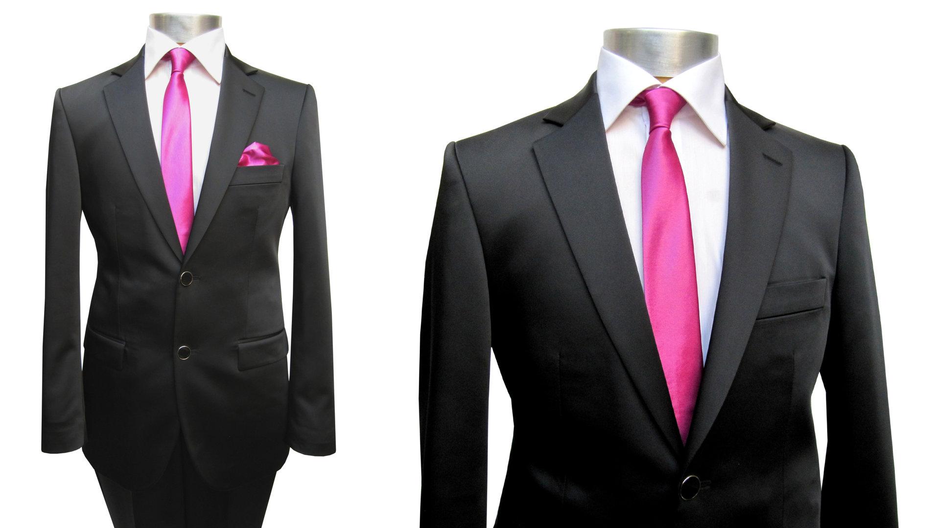 buy online b74ea 3aee8 Muga Herren Glanz Hochzeitsanzug Schwarz - Herrenausstatter