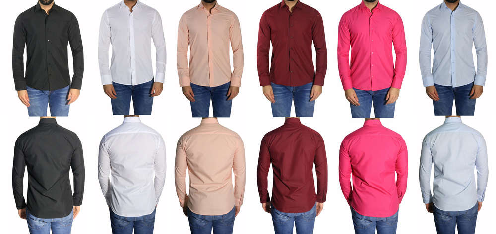 size 40 71b24 97f89 Slim-fit Herren Hemden viele Farben - Muga Herrenausstatter Köln