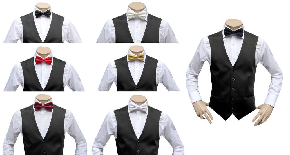 sélectionner pour plus récent styles de mode couleurs harmonieuses Muga Mariage Homme Gilet avec nœud papillon - Gilet