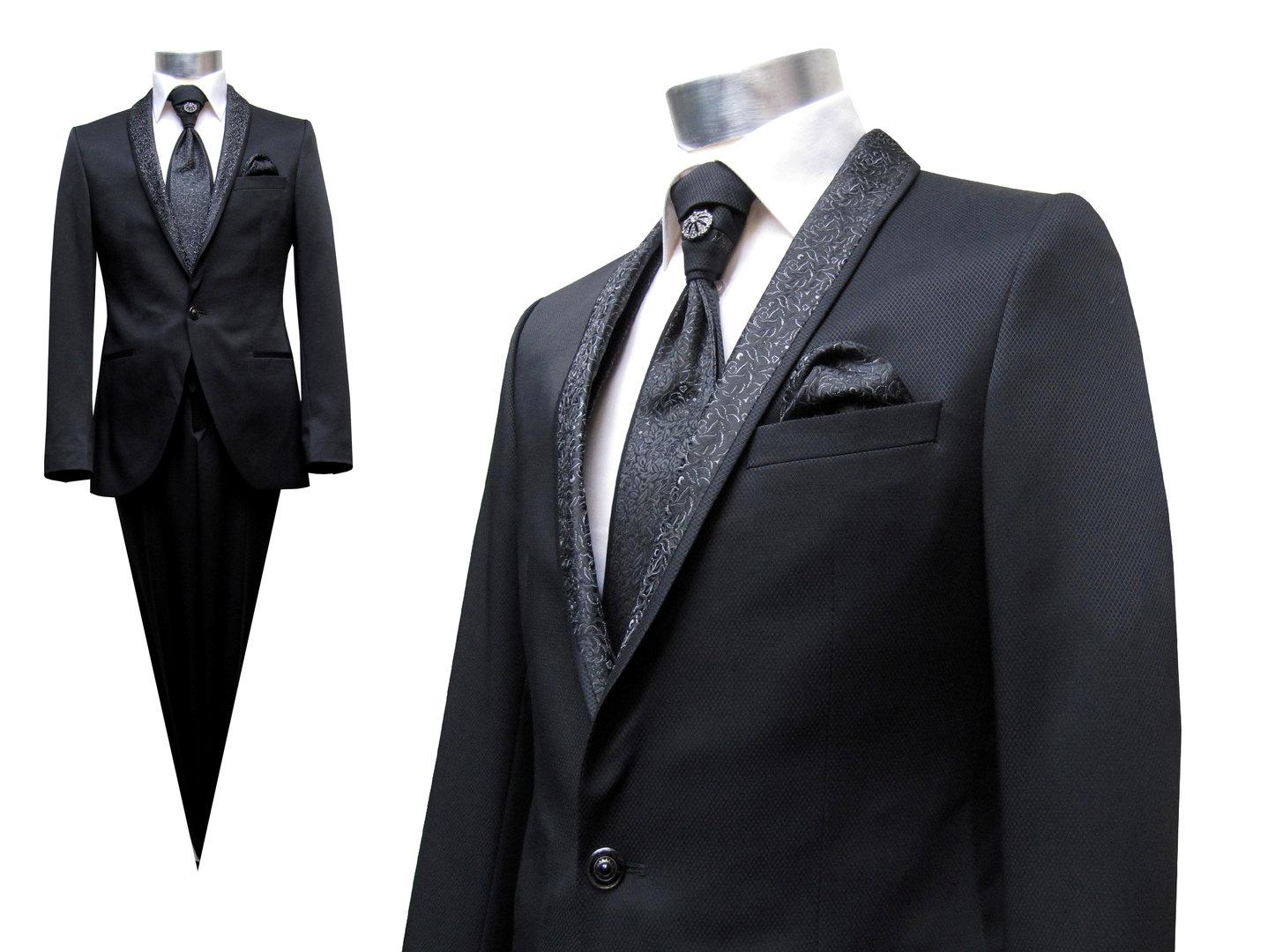 Wedding Suit Men Dark Blue Or Black Muga Wedding Clothing