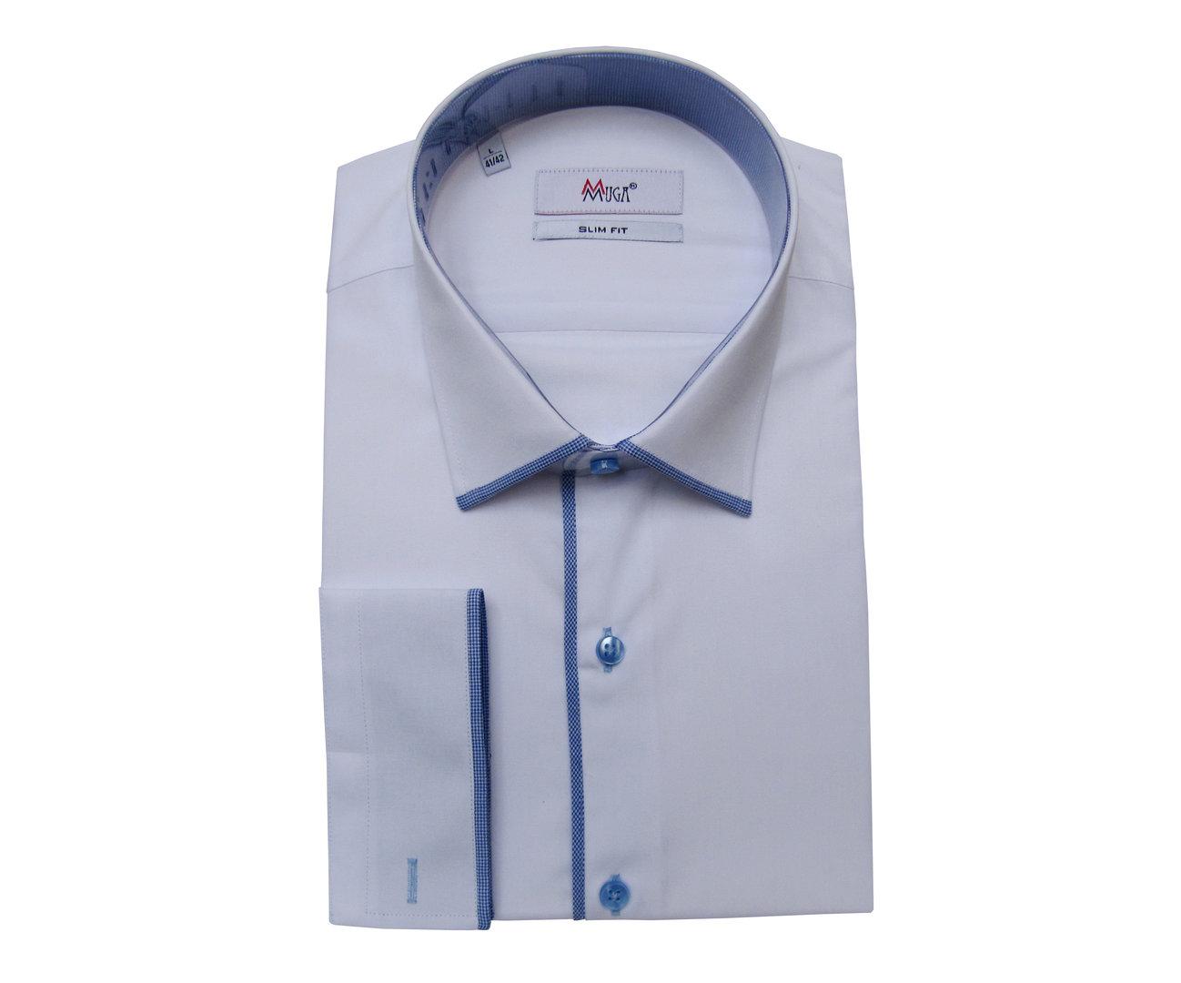 buy popular a1dd7 d9540 Herren Slim fit Hemd tailliert Modern - Muga ...