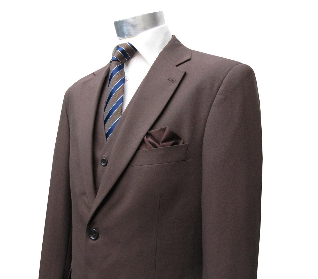 costume homme avec gilet marron costume mmuga. Black Bedroom Furniture Sets. Home Design Ideas