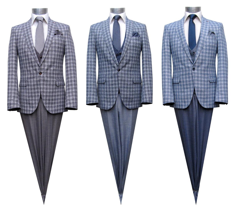 wholesale dealer eb060 f67ef Karierte Slim Fit Herren Sommer Anzug Vintage - Sommer Muga